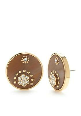 £25.45 • Buy Kate Spade Out Of Her Shell Button Stud Earrings Nwt