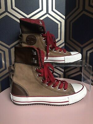 £24 • Buy Converse All Star 100% Suede Leather High Top Trainers Shoes Size UK 3 Tan New