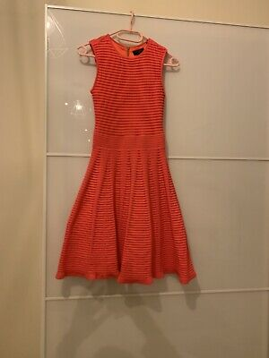 £15 • Buy Ted Baker Coral Pink Knitted Skater Dress Size 2
