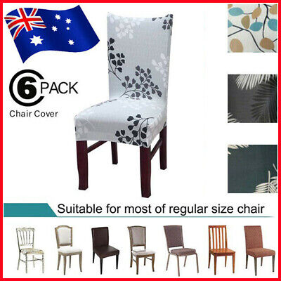 AU23.99 • Buy 6x Stretch Dining Chair Covers Spandex Slipcover Wedding Banquet Party Washable