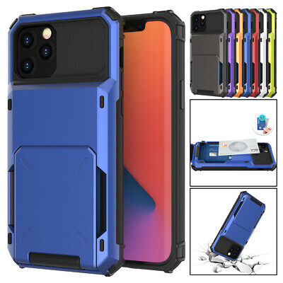 AU9.22 • Buy For IPhone 13 12 11 Pro Max XS XR X 8 7 Plus Wallet Card Slot Holder Case Cover