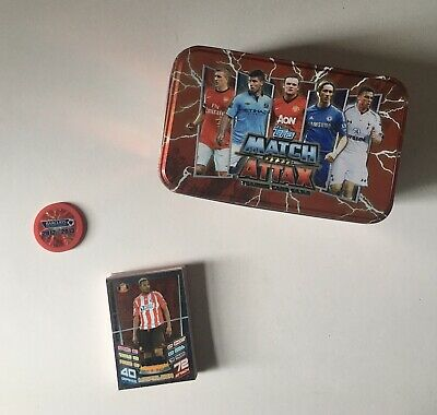 £7.49 • Buy Match Attax 2012/2013 Collectors Tin With Chip And 40 Cards (4 Shiny) Read Desc