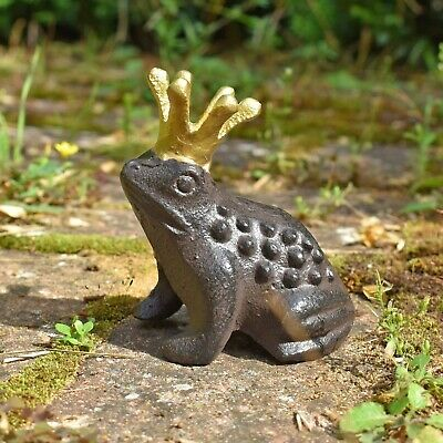 £10.99 • Buy Frog Prince Garden Animal Ornament Cast Iron Outdoor Statue Decoration