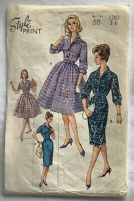 """£6.50 • Buy  Style 1283 - Vintage """"Shirtwaister"""" Dress Sewing Pattern - Bust 36"""""""