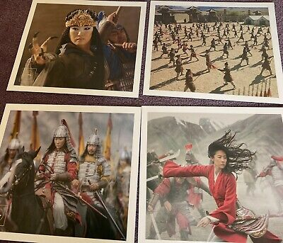 £2.99 • Buy Brand New Set Of Four Disney Mulan Exclusive Commemorative Lithograph Pictures