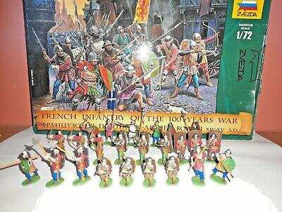 £14.99 • Buy PAINTED SOLDIERS 1/72 20mm - FRENCH INFANTRY - MEDIEVAL WARS X 24 ZVEZDA