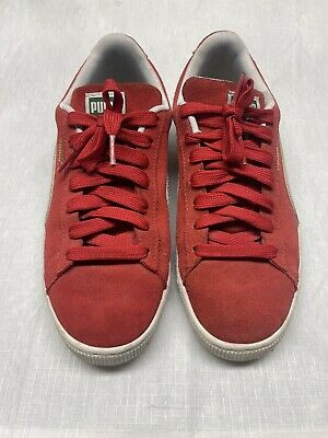 AU15.04 • Buy Puma Suede Women's Red Leather Sneakers Lace Up Shoes Size 9US Or 40EU