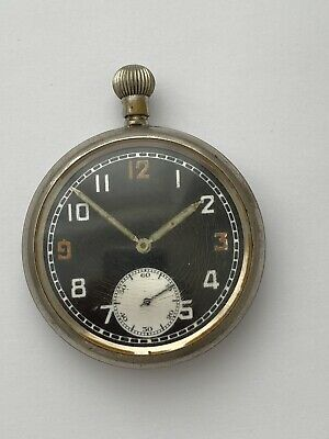 £25 • Buy Vintage Gents BRAVINGTONS GSTP Military Issued POCKET WATCH Hand-Wind WORKING