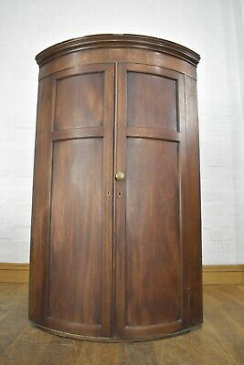 AU240.04 • Buy Antique Victorian Bow Front Wall Mounted Corner Cupboard / Cabinet