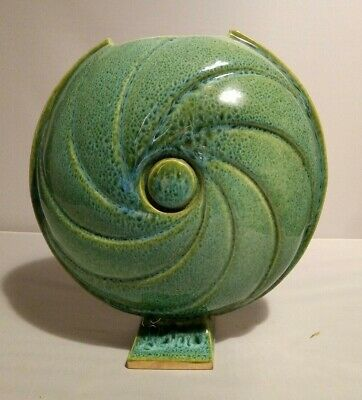 £19.99 • Buy Delmotte Pottery Vase, French Art Deco Style Studio Pottery, Great Condition