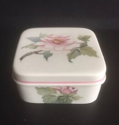£5.50 • Buy Royal Worcester Spode Palissy Square Trinket Box With Lid