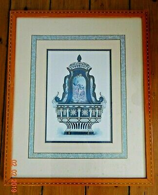 £7.50 • Buy Framed Glazed Picture ~ Architectural Antique Interior Print ~ French Vintage