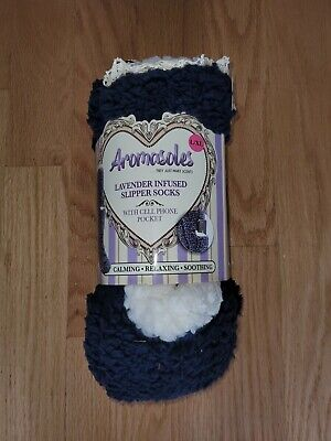 £18.27 • Buy Aromasoles Lavender Infused Slipper Socks With Cell Phone Pocket Size L/XL