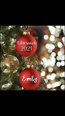 AU2 • Buy Personalised Name Labels Vinyl/Decals/Stickers For Christmas Baubles
