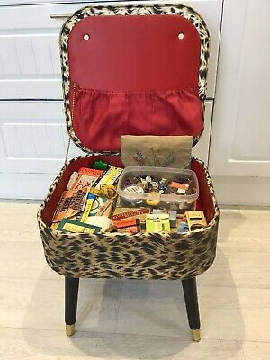 £19.95 • Buy Vintage Sewing Box Stool With Contents Beautiful 🌸