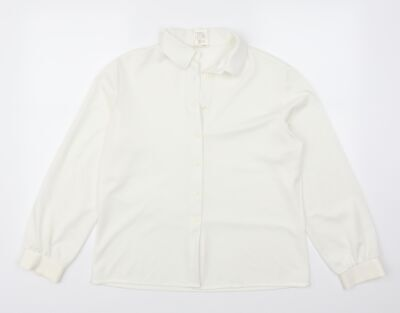 £5 • Buy St Michael Womens White   Basic Button-Up Size 16