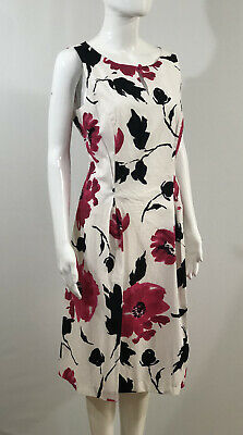 £9.50 • Buy Jessica Howard Women's Size 12 Dress Sleeveless A Line Pink White Floral