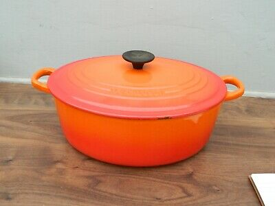 £43 • Buy Le Creuset  Cast Iron  Casserole Dish And Lid In Orange  Size F