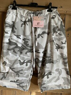 £9.99 • Buy Ladies Camouflage Shorts XL 16-18 Supper Stretch