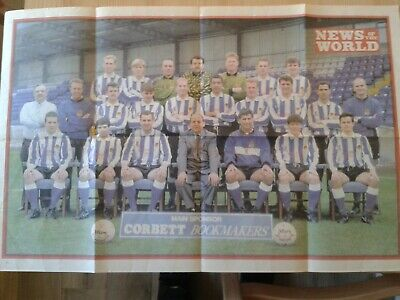 £3.49 • Buy Chester FC 1993/4 News Of The World Colour Team Poster 56cm X 36cm