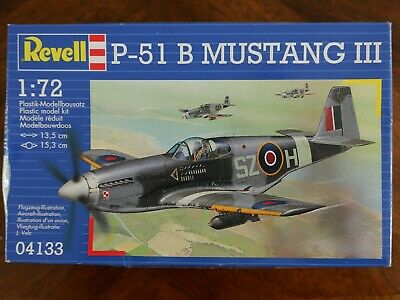 £10 • Buy 1:72 Scale Revell Plastic Model P-51 B Mustang Iii Ww2 Raf Fighter 04133