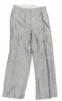 £8 • Buy Minuet Womens Grey Striped  Trousers  Size 10