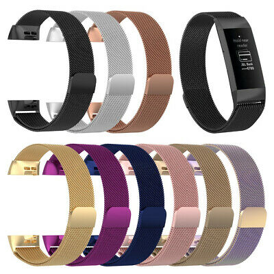 AU11.96 • Buy For Fitbit Charge 4 3 2 Stainless Steel Mesh Band Strap Magnetic Loop Bracelet