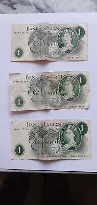 £5.50 • Buy  3 Old Uk  £ Pound Notes In Fare /good Condition .