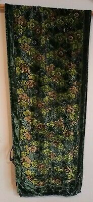 £2.99 • Buy Tie Rack Green Patterned Silk Blend Scarf 10 X 54 Inches