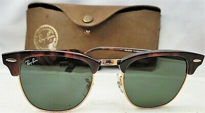 AU55.20 • Buy RayBan RB3016 CLUBMASTER SUNGLASSES Tortoise/Gold/Green Excellent Condition NR