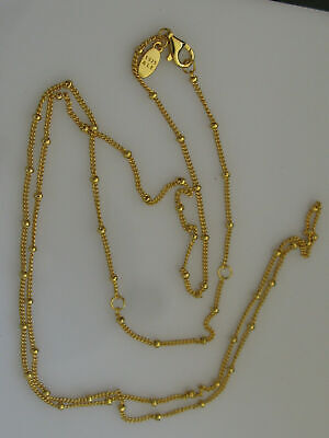 AU69.95 • Buy PANDORA Beaded Gold Plated Chain Necklace 397210-70 Cm