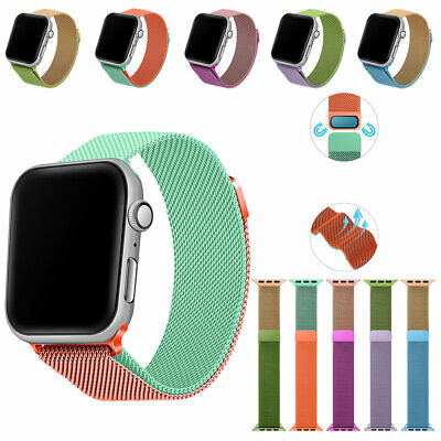 AU7.12 • Buy For Apple Watch 6/5/4/3/2/1/SE 38-44 Mm Magnetic Milanese Loop Band IWatch Strap