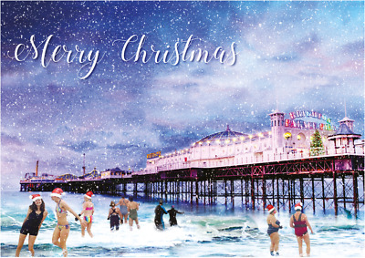 £3.75 • Buy Salty Seabirds Brighton Palace Pier Christmas Cards Exclusive Design 10 Pack