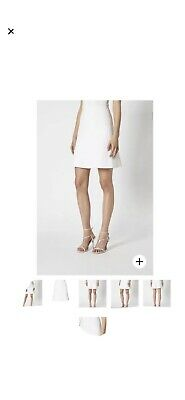 AU218 • Buy Scanlan Theodore XS Crepe Knit White Skirt Brand New With Tags