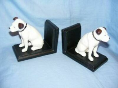 £26.95 • Buy Nipper Dog HMV Bookends His Masters Voice Cast Iron
