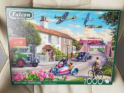 £5 • Buy Falcon De Luxe 1000 Piece Jigsaw Puzzle  Wartime Morning  Complete.