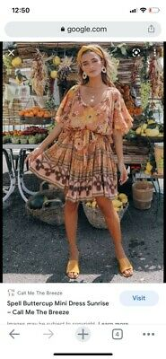 AU82 • Buy Spell And The Gypsy Size Xs Buttercup Mini Dress