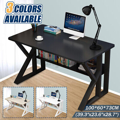 AU68.80 • Buy 2 Size Computer Desk Study Home Office Table Student White Metal Workstation  ~