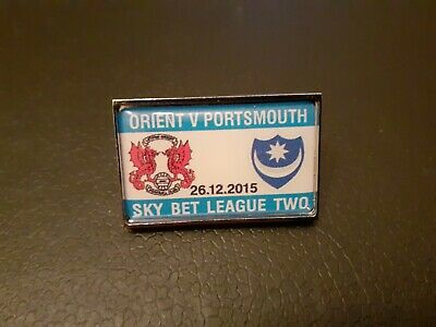 £1.60 • Buy Orient V Portsmouth Matchday Badge (26/12/2015 - Div.2) New To Collect. Rare.