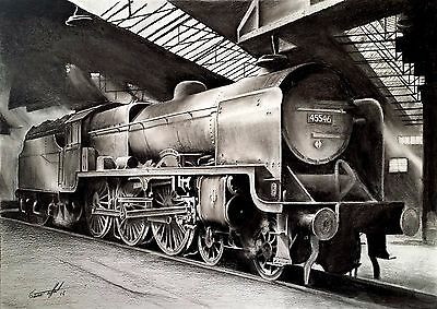 £9.95 • Buy TRAIN PRINT Giclee Limited Edition Signed Art PRINT Original Drawing LMS Patriot