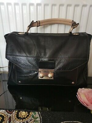 £9 • Buy Autograph  M&S Black Genuine Butter Soft Leather Grab Bag Immac