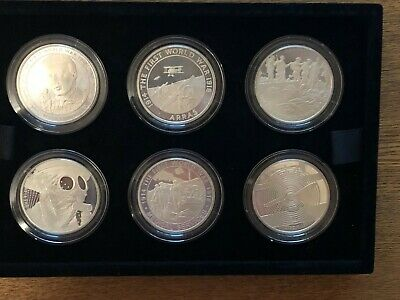 £78 • Buy Boxed 2017 Uk £5 Silver Proof Six Coin Set 100th Anniversary Of Wwi