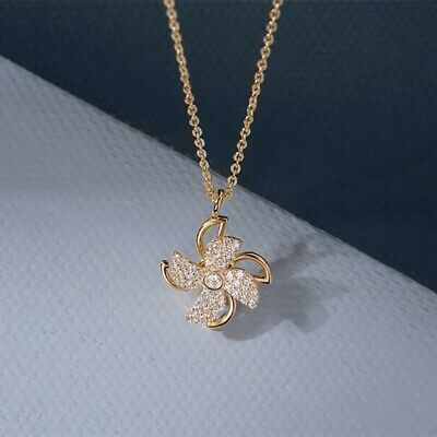 AU0.25 • Buy Gold Color Chain Pendant Crystal Necklace For Women Fashion Jewelry Lady Gift