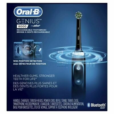AU163.41 • Buy Oral-B Genius Pro 8000 Rechargeable Battery Electric Toothbrush, Black.