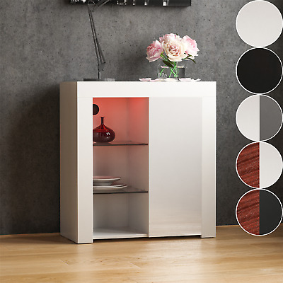 £64.94 • Buy LED Sideboard High Gloss Buffet Cupboard Display Cabinet TV Unit Stand 1 Door