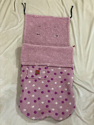 £9 • Buy BUGGY SNUGGLE Pink Polka Dot Cosy Toes Universal Fitting