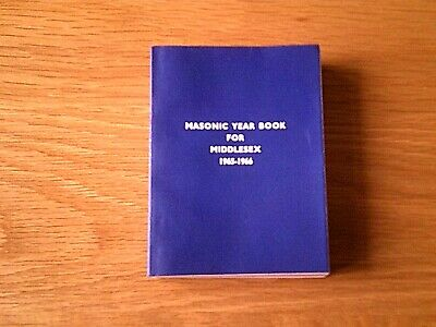 £4.99 • Buy Masonic Year Book For Middlesex 1965-66