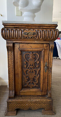 AU150 • Buy Egyptian Antique Marble Wood Cabinet Table