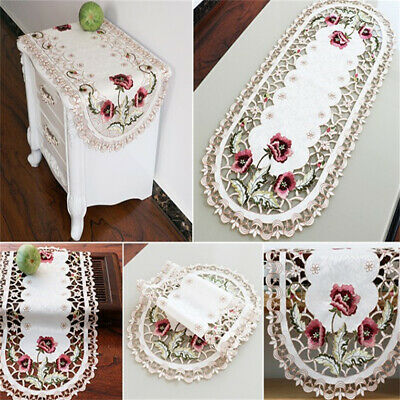 AU9.99 • Buy Embroidered Table Runner Kitchen Dining Wedding Party Table Floral Decoration