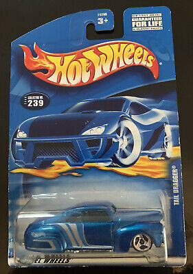 AU5 • Buy Hot Wheels Tail Dragger Blue Collector #239 Long Card